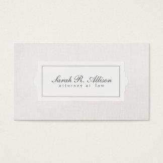 Elegant Attorney Plaque Style Beige Linen Look