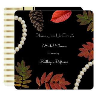 Elegant Autumn Bridal Shower Invitation