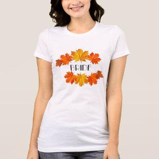 Elegant Autumn Wreath Bride Shirt