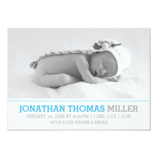 Elegant Baby Birth Announcement Photo Card