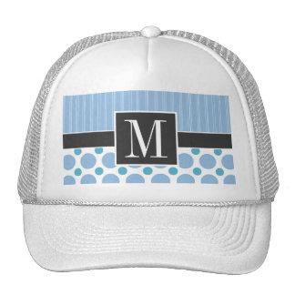 Elegant Baby Blue Polka Dots Mesh Hat