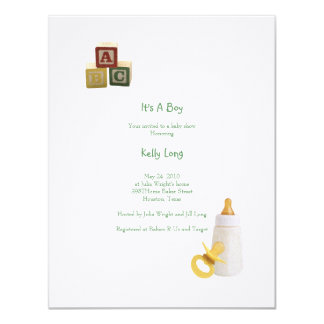 "Elegant Baby Invitation 4.25"" X 5.5"" Invitation Card"