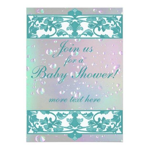 Elegant Baby Shower Invitations template | Zazzle