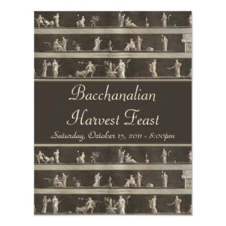 Elegant Bacchanalian Harvest Feast Neo-Classical Card