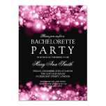 Elegant Bachelorette Party Sparkling Lights Pink Personalized Invitation
