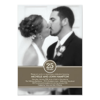 Elegant Band Anniversary Photo Invitation