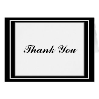 Elegant Bar Mitzvah Thank You Card - Customized