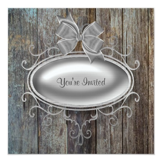 Elegant Barn Wood Party Invitation Template