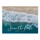 Elegant Beach Blue Ocean Save the Date Postcard