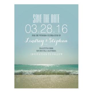 Elegant Beach Wedding Save the Date Postcard