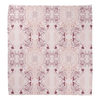 Elegant beautiful floral lace pink pattern bandana