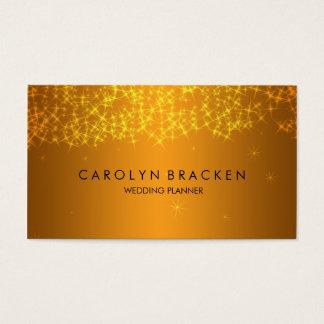 Elegant Beautiful Gold Sparkling Business Card