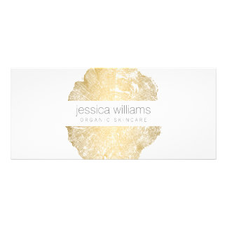 Elegant Beauty Gold Tree Ring Gift Certificate II Rack Cards