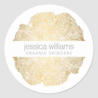 Elegant Beauty Gold Tree Ring Stickers