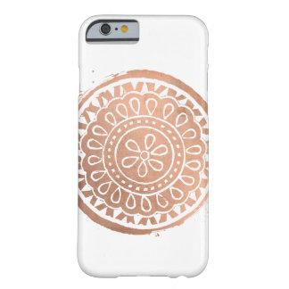 Elegant Beauty Mandala Logo Rose Gold Barely There iPhone 6 Case