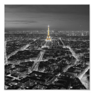 Elegant Beauty of Paris Nights Poster