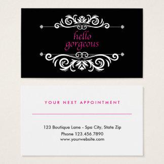 Elegant Beauty Salon Appointment   Hello Gorgeous Business Card