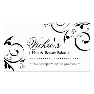 Elegant Beauty Salon Business Card Business Card