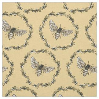 Elegant Bee Print Cotton Fabric
