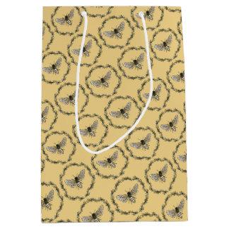 Elegant bee print gift bag