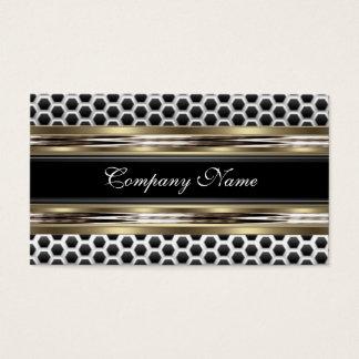 Elegant Beige and Black Grey Business Card