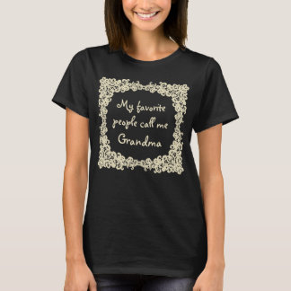 Elegant beige lace custom t-shirt