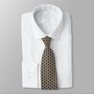Elegant beige stars tie