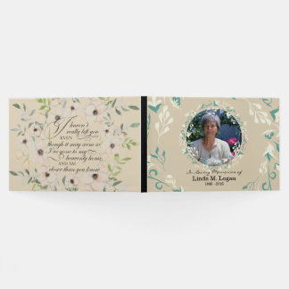 Elegant beige white painted floral wreath funeral