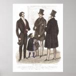 Elegant Biedermeier Gentlemen in Top Hats Poster