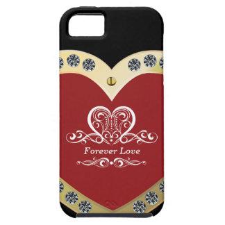 Elegant Big Golden Love Heart  | iPhone 5 Case
