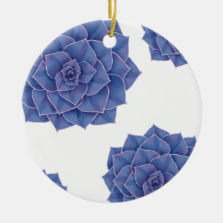 Elegant Big Purple Echeveria Design Ceramic Ornament