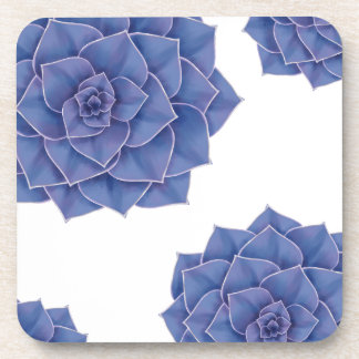 Elegant Big Purple Echeveria Design Coaster