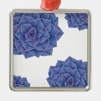 Elegant Big Purple Echeveria Design Metal Ornament