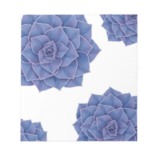 Elegant Big Purple Echeveria Design Notepad
