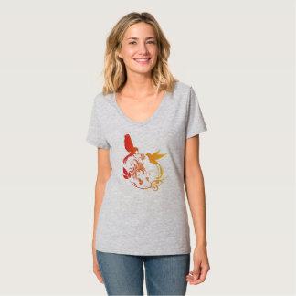 Elegant Bird Design T-Shirt