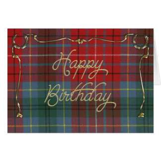 Elegant Birthday Card on British Columbia Tartan