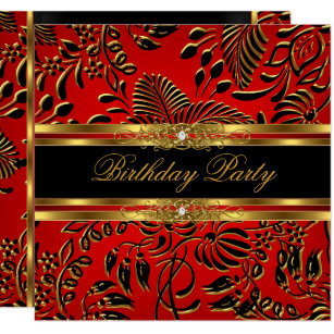black and red birthday invitations announcements zazzle com au