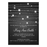 Elegant Birthday Party Sparkling Lines Black