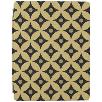 Elegant Black and Gold Circle Polka Dots Pattern iPad Cover