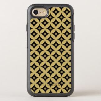 Elegant Black and Gold Circle Polka Dots Pattern OtterBox Symmetry iPhone 8/7 Case