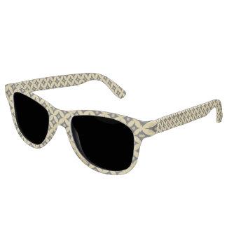 Elegant Black and Gold Circle Polka Dots Pattern Sunglasses