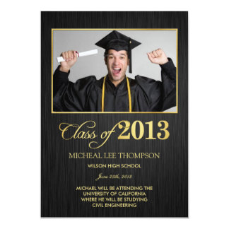 Elegant black and gold Class of 2013 Announcement