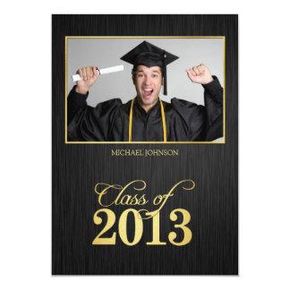 Elegant black and gold Class of 2013 Graduation 13 Cm X 18 Cm Invitation Card