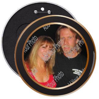 Elegant Black and Gold Decorative Button Template