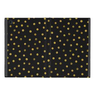 Elegant Black And Gold Foil Confetti Dots Case For iPad Mini