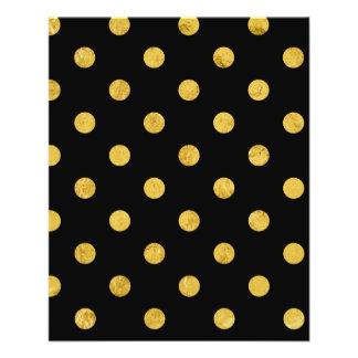 Elegant Black And Gold Foil Polka Dot Pattern 11.5 Cm X 14 Cm Flyer
