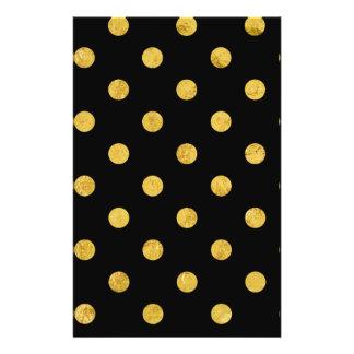 Elegant Black And Gold Foil Polka Dot Pattern 14 Cm X 21.5 Cm Flyer
