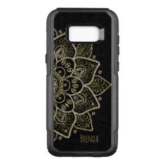 Elegant Black And Gold Glitter Mandala OtterBox Commuter Samsung Galaxy S8+ Case