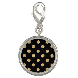 Elegant Black And Gold Glitter Polka Dots Pattern
