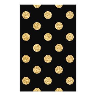 Elegant Black And Gold Glitter Polka Dots Pattern 14 Cm X 21.5 Cm Flyer